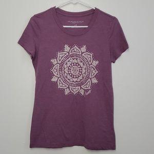 💥 Aeropostale Purple Graphic Tee Sz L (Jr)